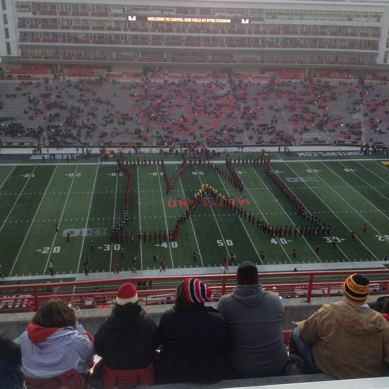 Seating view for Maryland Stadium Section 305 Row N Seat 13