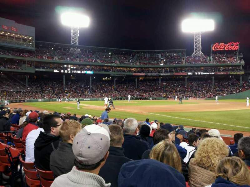 Seating view for Fenway Park Section Field Box 10 Row J Seat 2