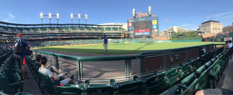 Seating view for Comerica Park Section 114 Row 3 Seat 9