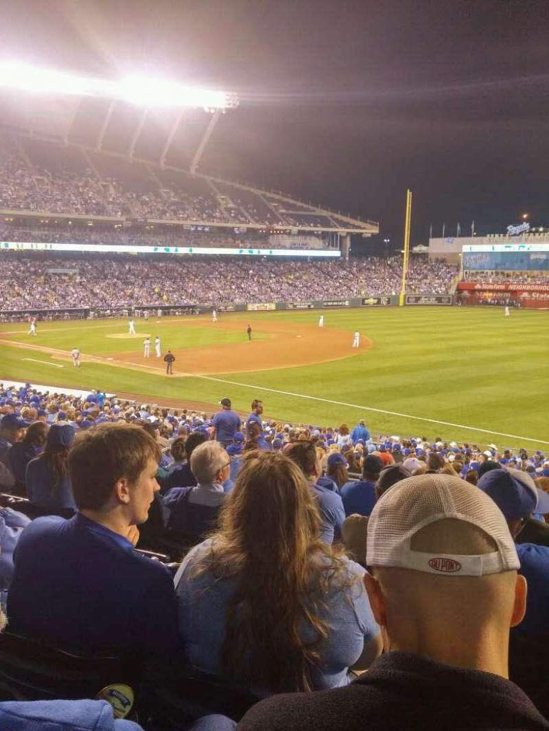 Seating view for Kauffman Stadium Section 242 Row JJ Seat 9