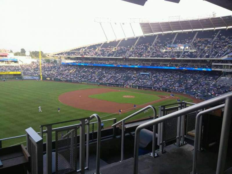 Seating view for Kauffman Stadium Section CRTBLE19 Row TBLD Seat 1-2