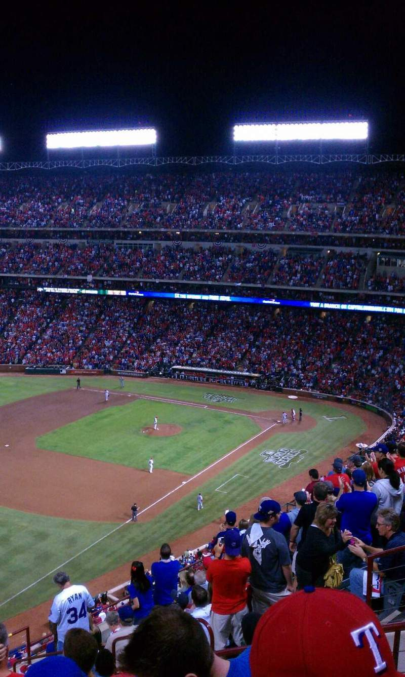 Seating view for Globe Life Park in Arlington Section 312 Row 12 Seat 12