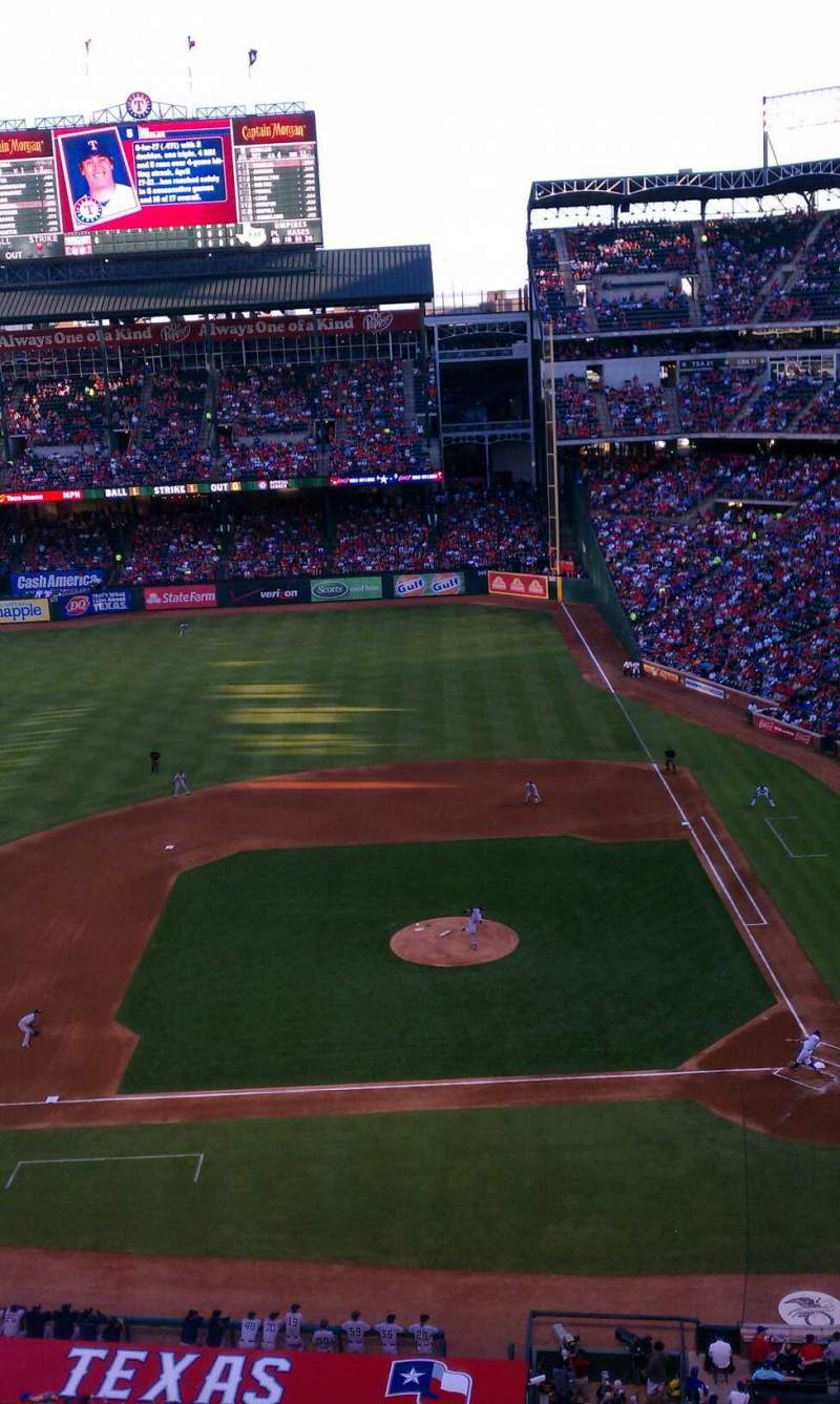 Seating view for Globe Life Park in Arlington Section 320 Row 1 Seat 16