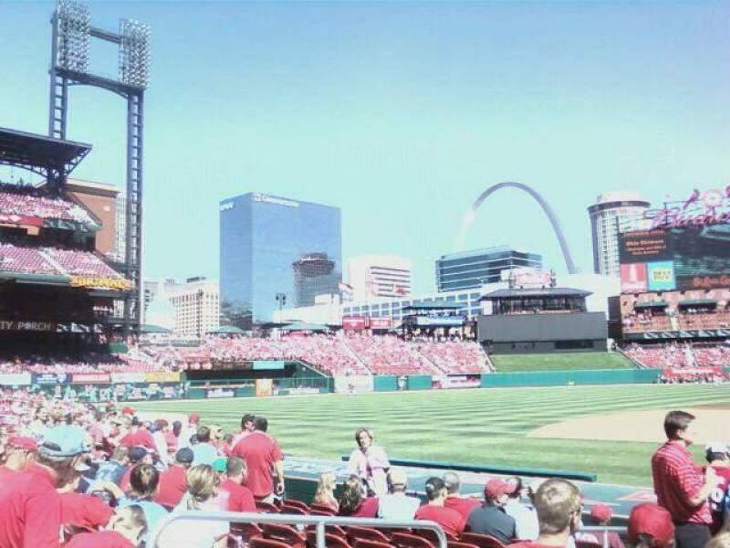 Seating view for Busch Stadium Section 155 Row 8 Seat 12