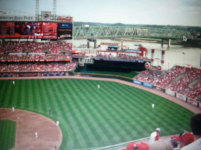Seating view for Great American Ball Park Section 302 Row P Seat 9