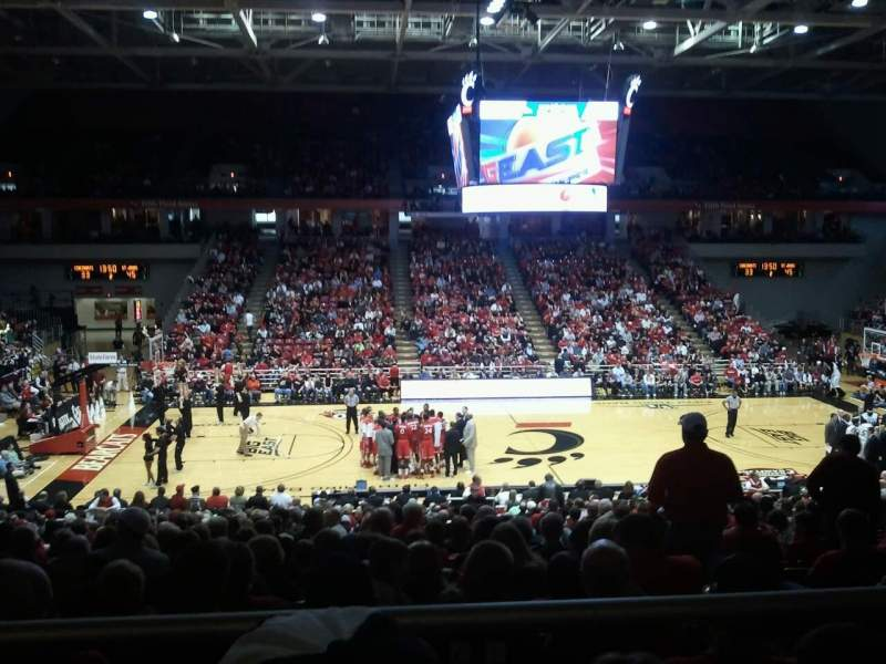 Seating view for Fifth Third Arena Section 223 Row 1