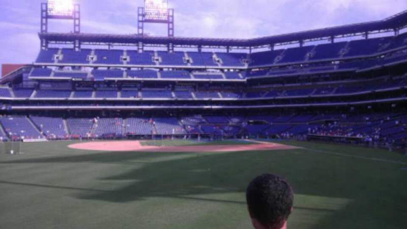 Seating view for Citizens Bank Park Section 143 Row 3 Seat 21
