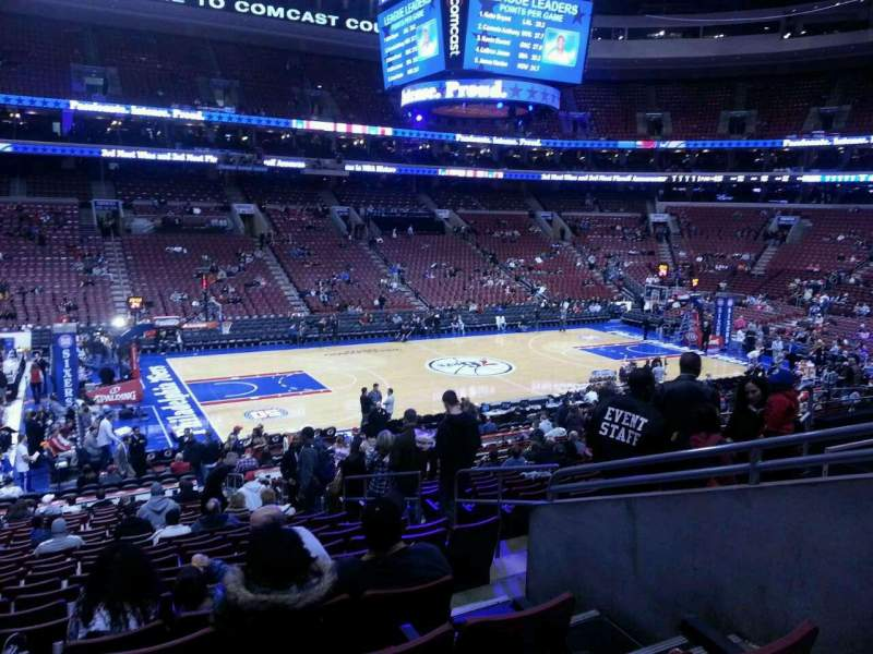 Seating view for Wells Fargo Center Section 123 Row 23 Seat 14