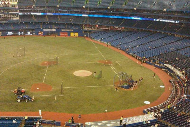 Seating view for Rogers Centre Section 529R Row 1 Seat 1