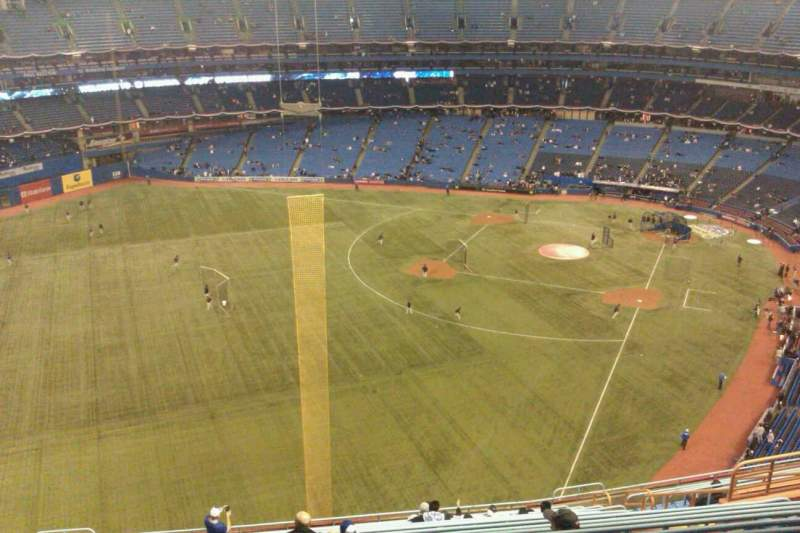 Seating view for Rogers Centre Section 538L Row 19 Seat 109