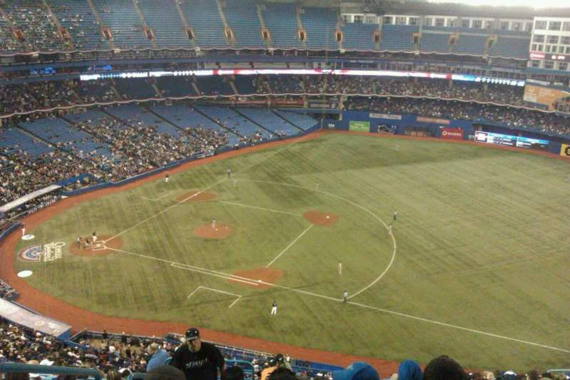 Seating view for Rogers Centre Section 516R Row 20 Seat 2
