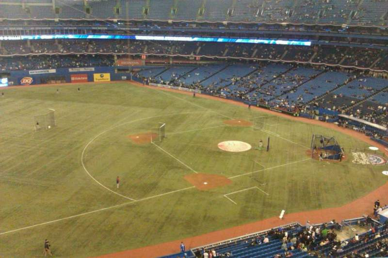Seating view for Rogers Centre Section 533R Row 3 Seat 6