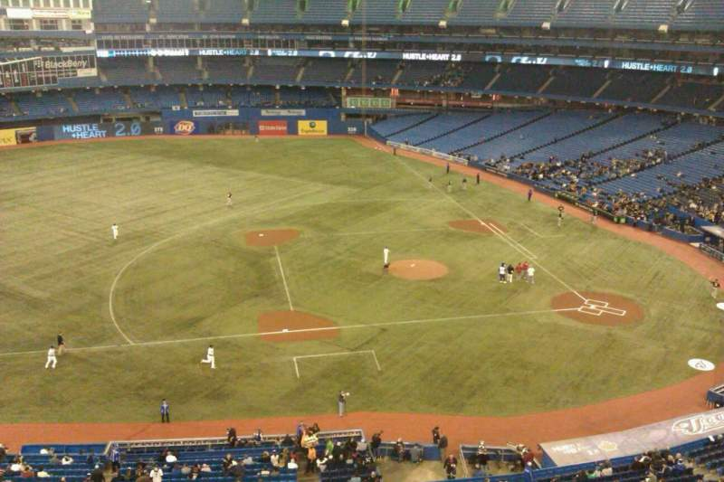 Seating view for Rogers Centre Section 530L Row 1 Seat 105