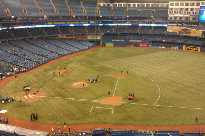 Seating view for Rogers Centre Section 518R Row 6 Seat 4
