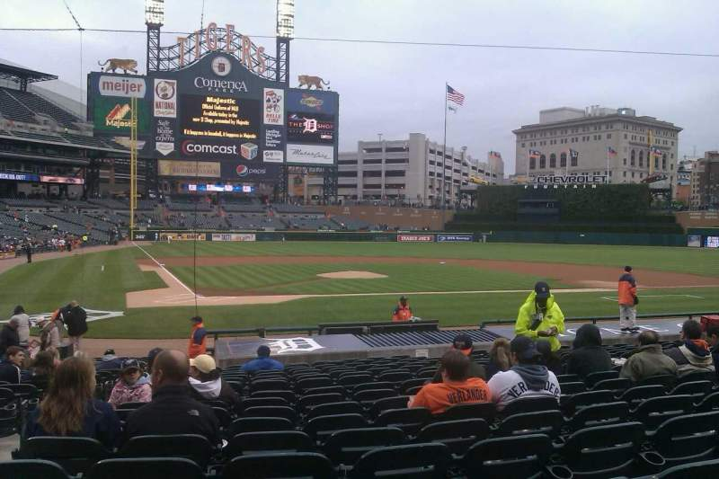 Seating view for Comerica Park Section 124 Row 24 Seat 13