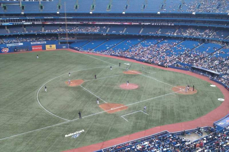 Seating view for Rogers Centre Section 533R Row 2 Seat 9