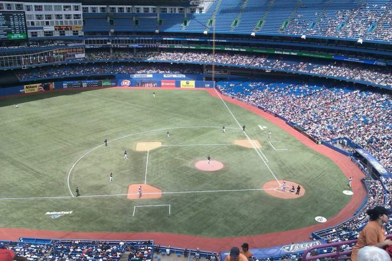 Seating view for Rogers Centre Section 529R Row 15 Seat 5