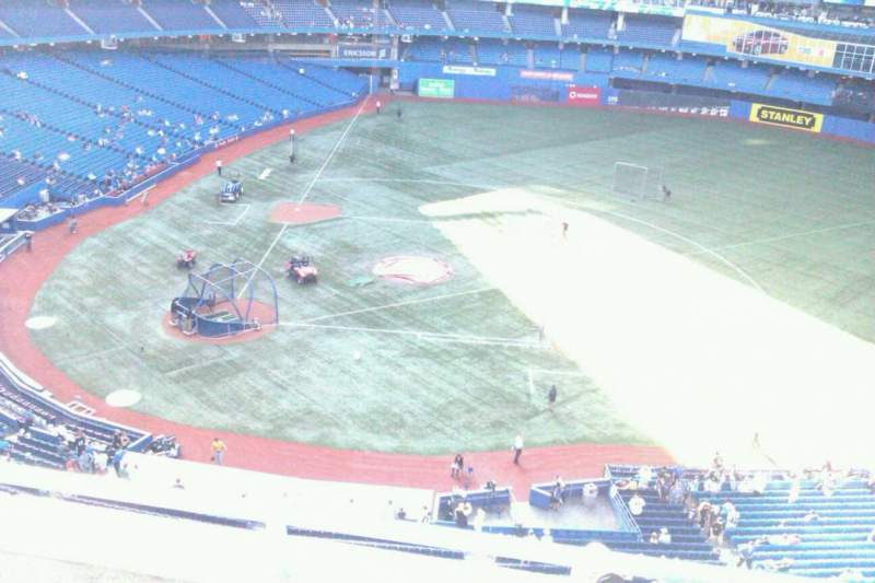 Seating view for Rogers Centre Section 519L Row 3 Seat 108