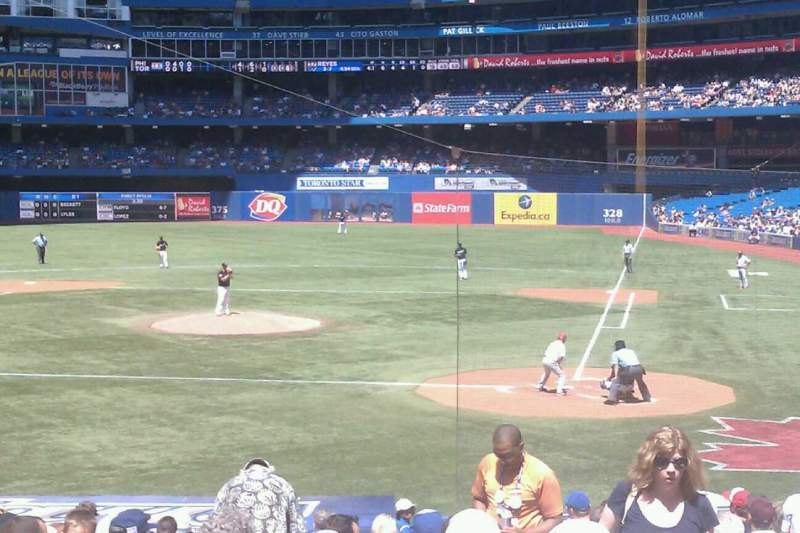 Seating view for Rogers Centre Section 124R Row 24 Seat 2