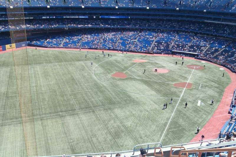 Seating view for Rogers Centre Section 538L Row 10 Seat 105