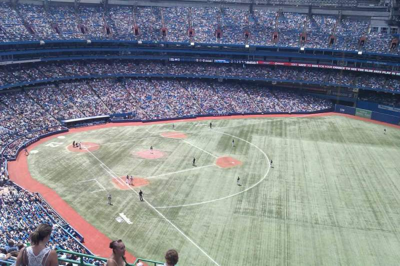 Seating view for Rogers Centre Section 512R Row 16 Seat 5