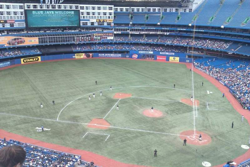 Seating view for Rogers Centre Section 527 Row 12 Seat 110