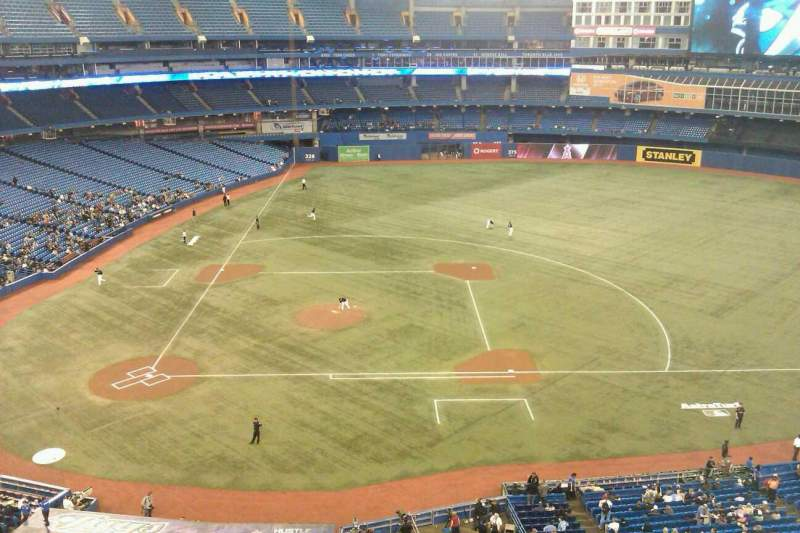 Seating view for Rogers Centre Section 519L Row 2 Seat 103