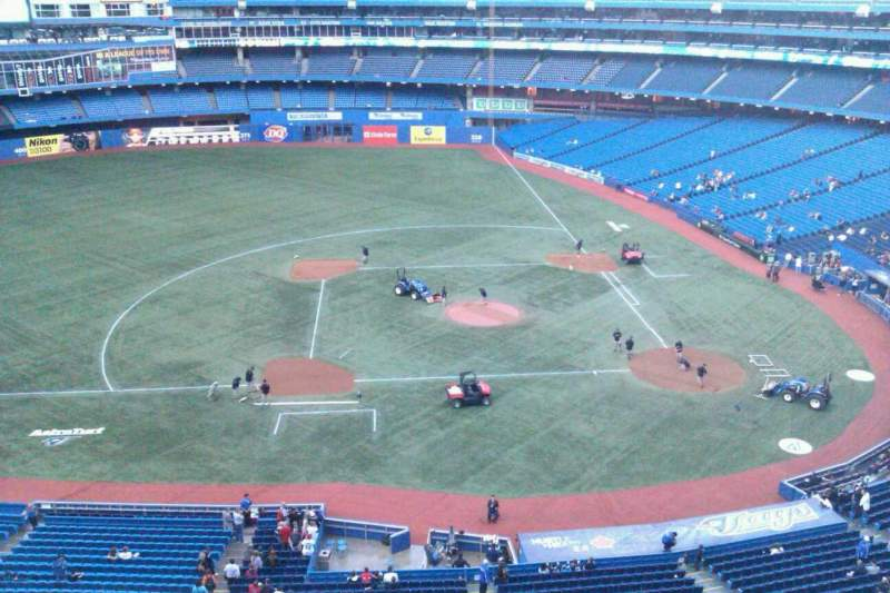 Seating view for Rogers Centre Section 529L Row 2 Seat 101
