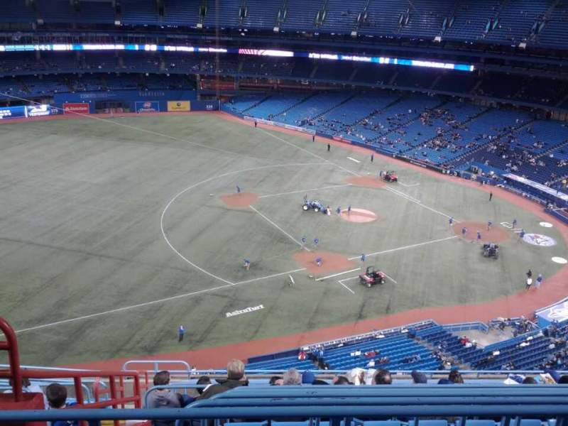 Seating view for Rogers Centre Section 533R Row 12 Seat 4