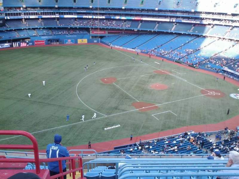 Seating view for Rogers Centre Section 533R Row 12 Seat 3