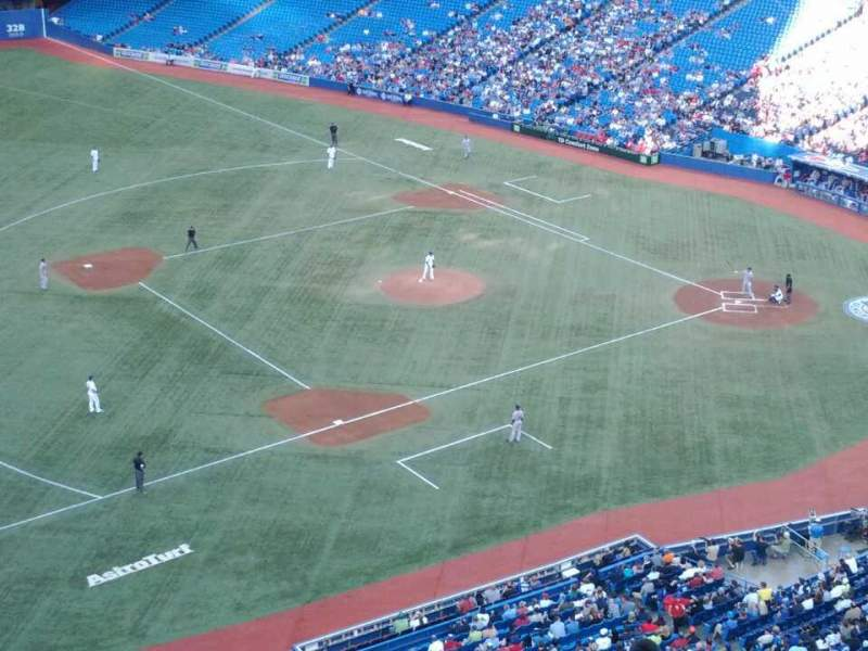 Seating view for Rogers Centre Section 533R Row 10 Seat 4