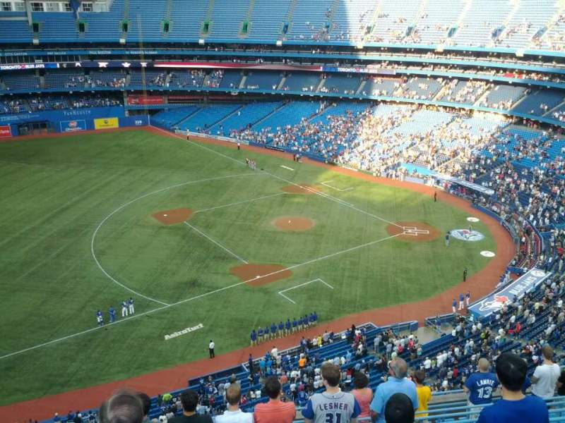 Seating view for Rogers Centre Section 533R Row 12 Seat 6