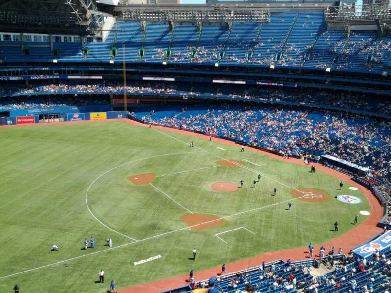 Seating view for Rogers Centre Section 533 Row 12 Seat 4