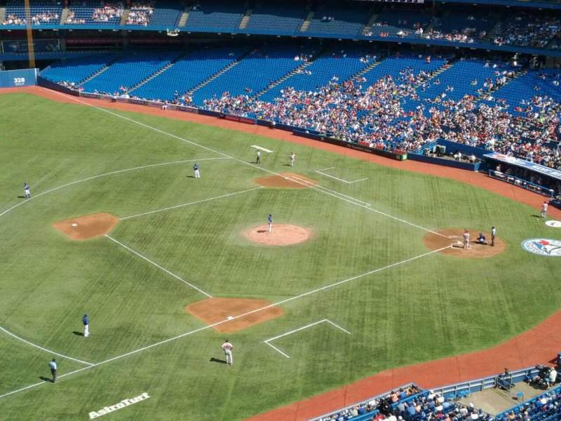 Seating view for Rogers Centre Section 533R Row 12 Seat 1
