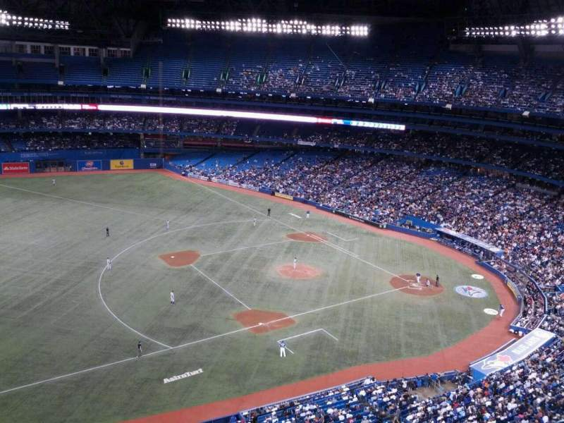 Seating view for Rogers Centre Section 533 Row 12 Seat 6