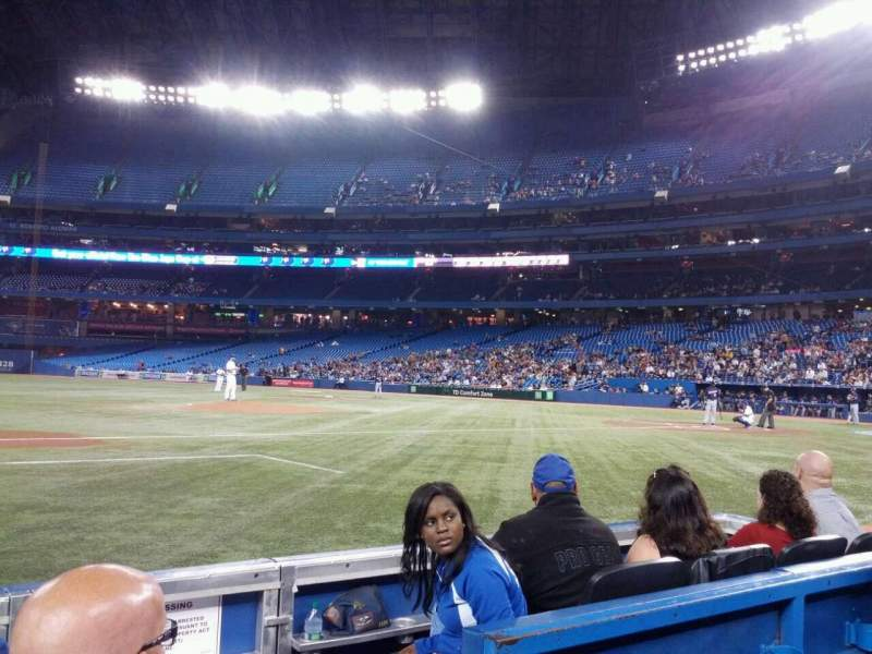 Seating view for Rogers Centre Section 127L Row 3 Seat 101