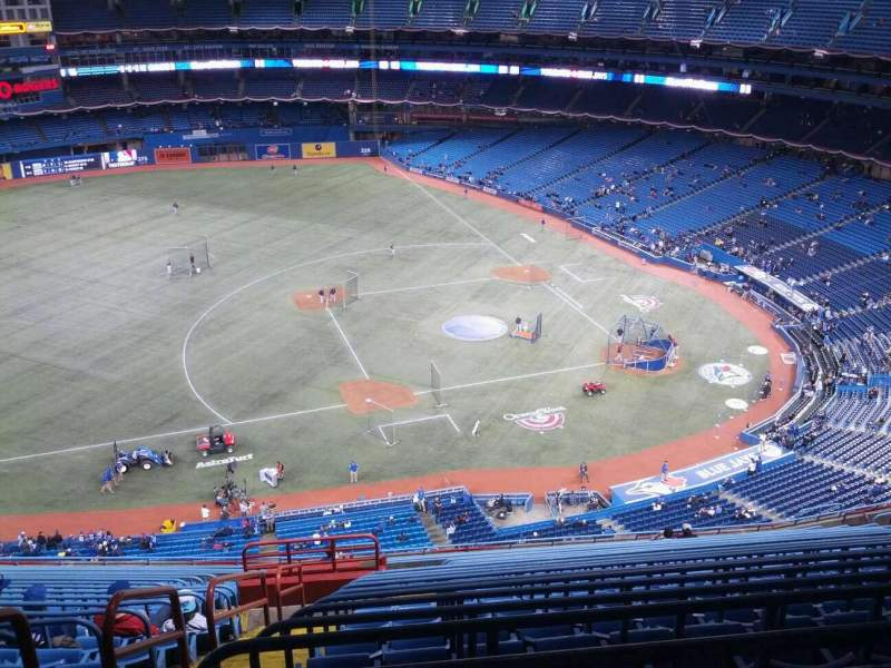 Seating view for Rogers Centre Section 531R Row 21 Seat 3