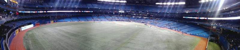 Seating view for Rogers Centre Section 244L Row 1 Seat 106