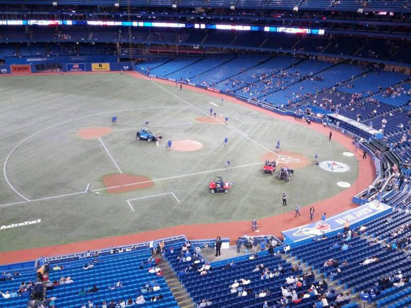 Seating view for Rogers Centre Section 531R Row 1 Seat 3