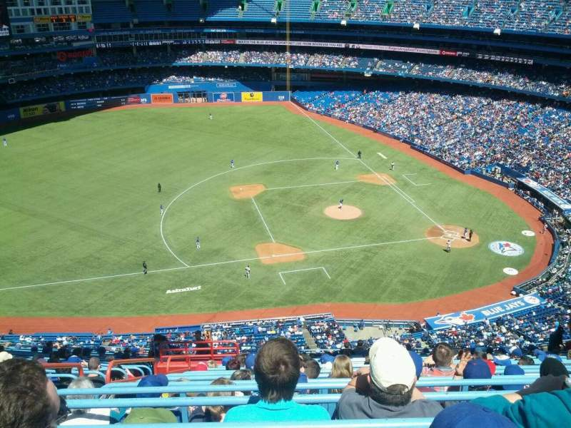 Seating view for Rogers Centre Section 531R Row 22 Seat 6