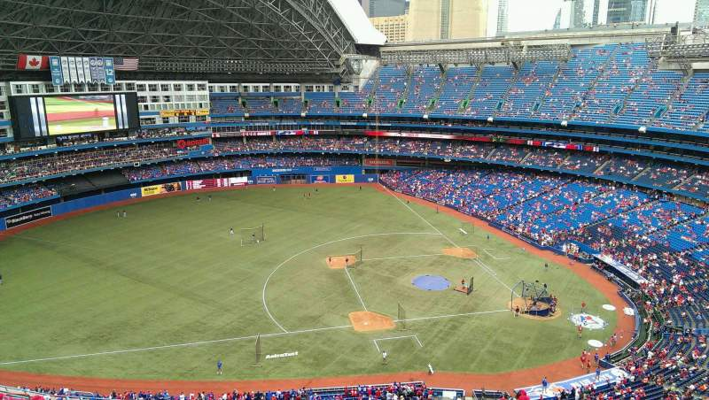 Seating view for Rogers Centre Section 531 Row 21 Seat 03