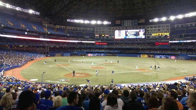 Seating view for Rogers Centre Section 120R Row 34 Seat 6