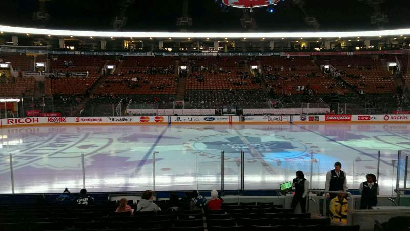 Seating view for Air Canada Centre Section 108 Row 13 Seat 21