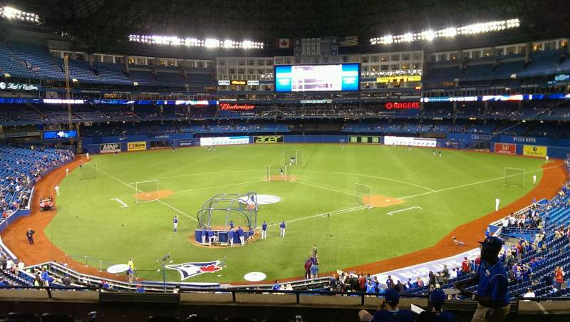 Seating view for Rogers Centre Section 223R Row 8 Seat 4