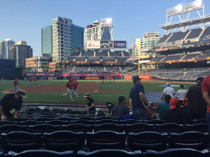 Seating view for PETCO Park Section 110 Row 11 Seat 7