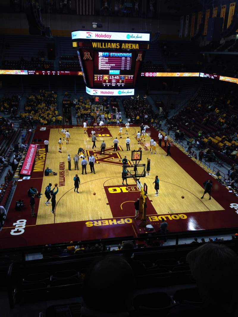 Seating view for Williams Arena Section 201 Row 8 Seat 24