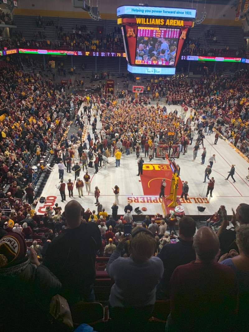 Seating view for Williams Arena Section 201 Row 5 Seat 24