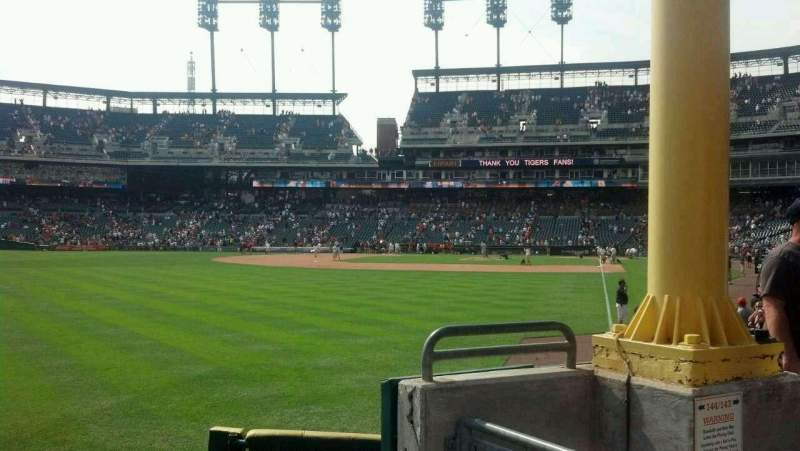 Seating view for Comerica Park Section 144 Row D Seat 5