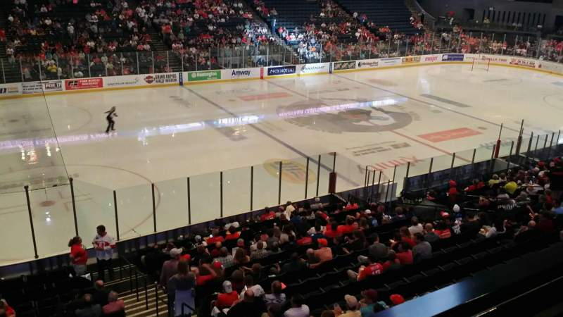 Seating view for Van Andel Arena Section 224 Row A Seat 3
