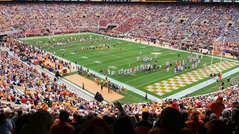 Seating view for Neyland Stadium Section P Row 64 Seat 20